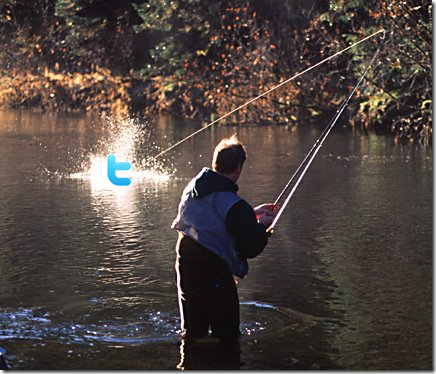 Using Twitter is like Fishing